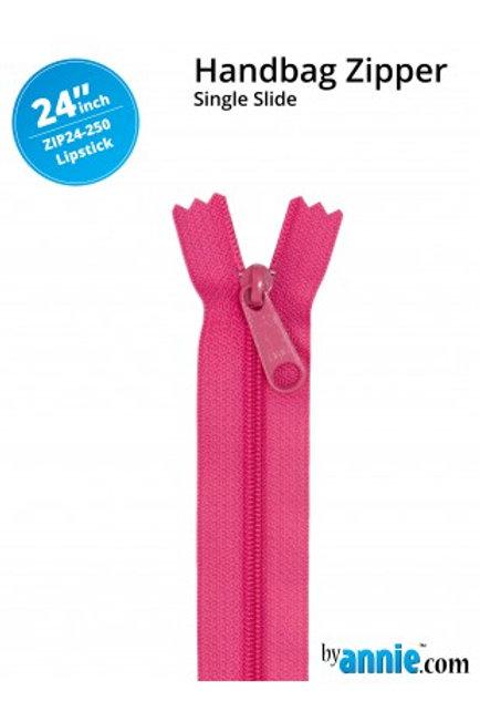 """24"""" HandBag Zipper in Lipstick By Annie"""