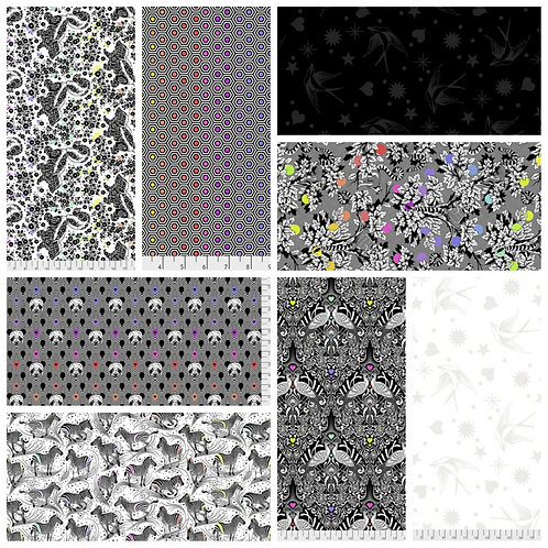 Tula Pink Linework - 8 Piece Fat Quarter Bundle