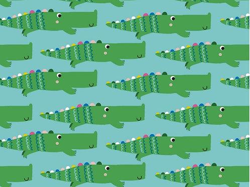 Dashwood Studio Rainbow Friends Alligators on Blue (£3.25fq/£13.00pm)