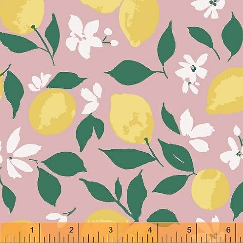 Windham Fabrics Pink Lemonade - Lemons on Pink