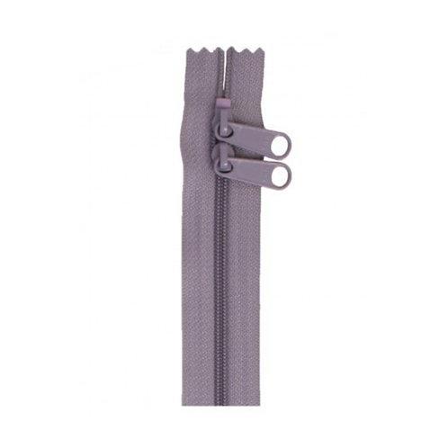 "30"" Double Slide Bag Zipper Gunmetal Grey By Annie"