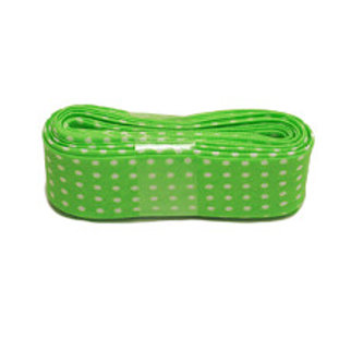 Lime Green Spot 20mm Single Fold Bias Binding x3mLength