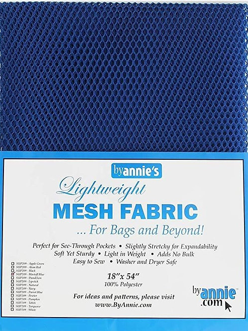 By Annie Mesh Fabric in Blastoff Blue 1/2 yard (18in x 54in) Package