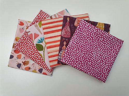 Pink, Red & Purple 6 Piece Fat Quarter Bundle