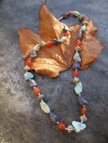 collier pierres et perles