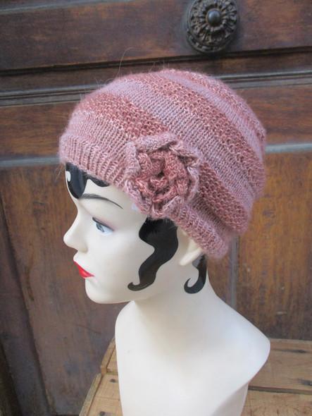 rose tricoté main