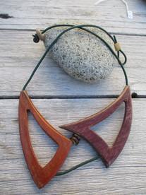 collier bois créateur