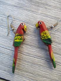 boucles d oreilles perroquet