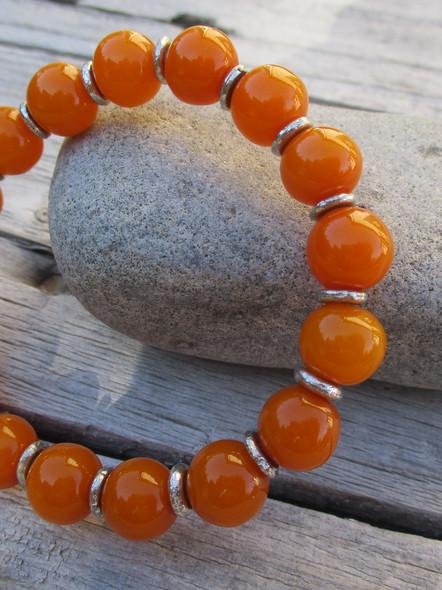 bracelet perles ambrées