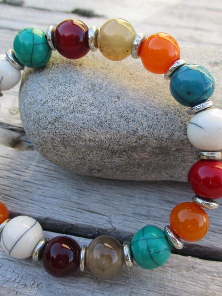 bracelet perles multicolor