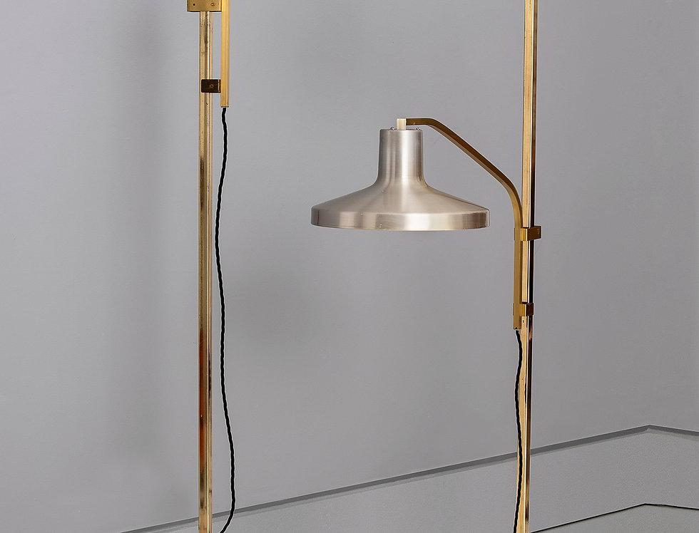Pair of Midcentury Scandinavian counterbalanced floor lamps.