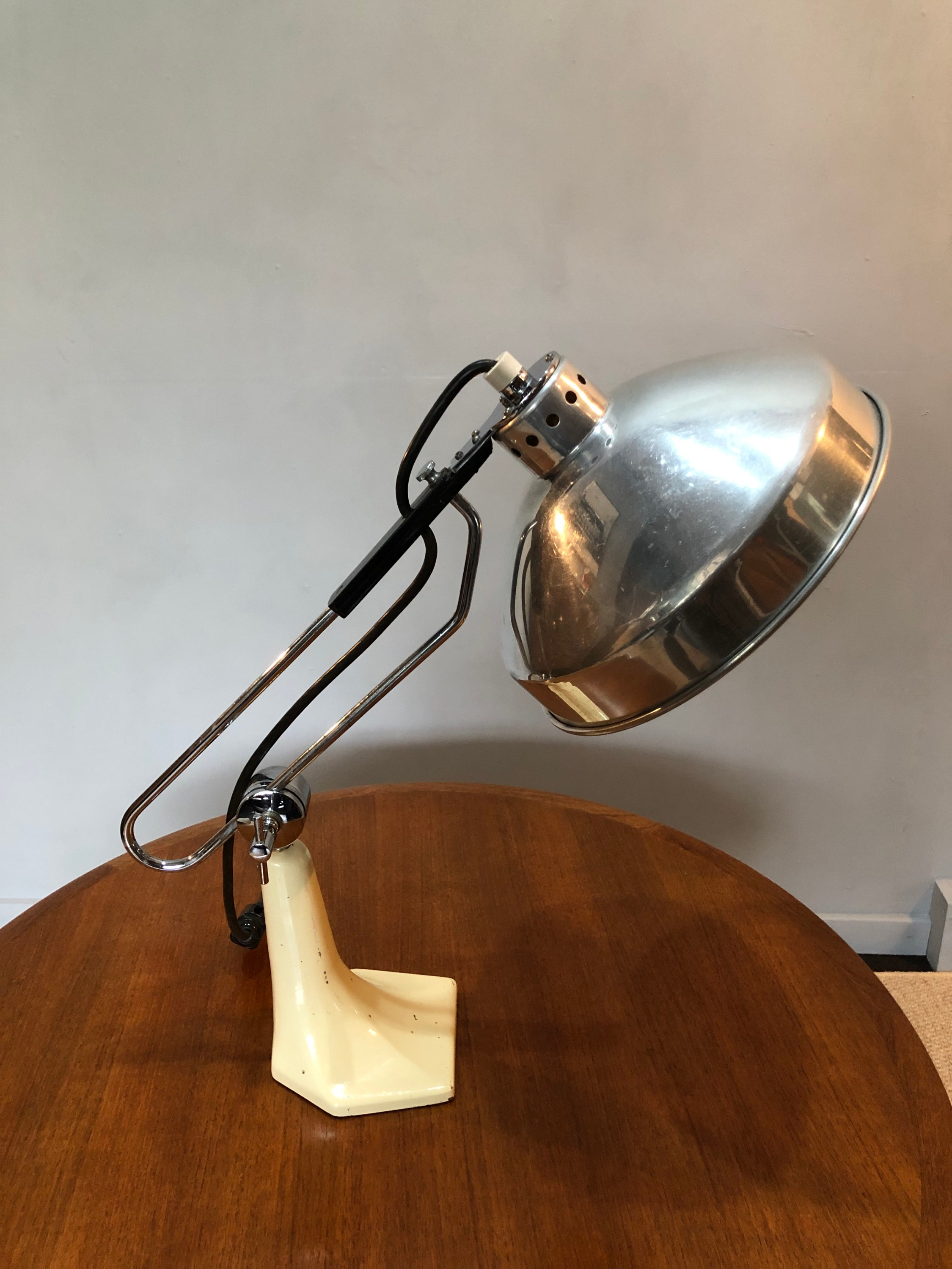 Large Midcentury Industrial Lamp