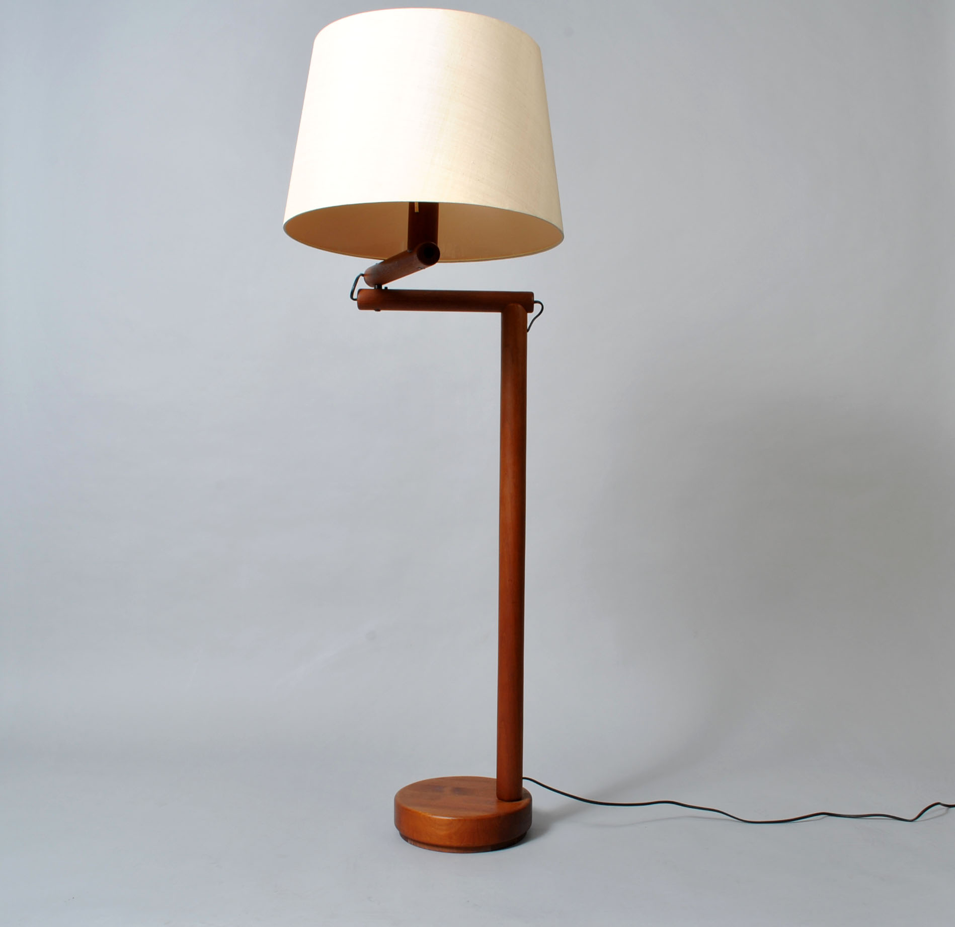 Midcentury Danish teak floor lamp