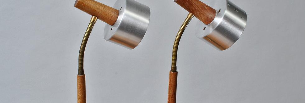 Pair of Midcentury Danish desk lamps in the style - Jo Hammerborg for Fog&Morup