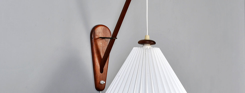 Midcentury Modern LYFA Danish teak wall hanging lamp 1960s.