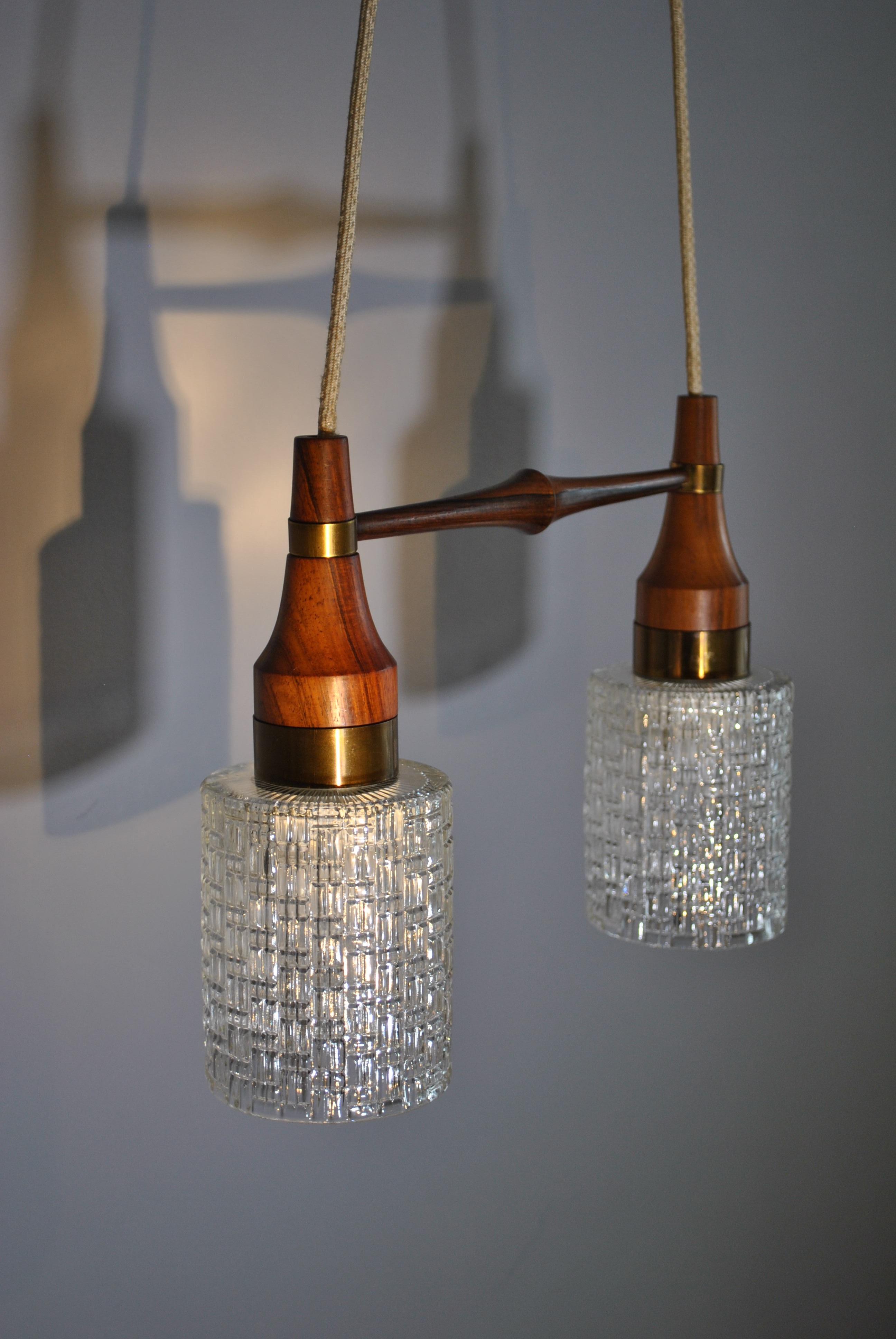 Midcentury Danish rosewood dual glas