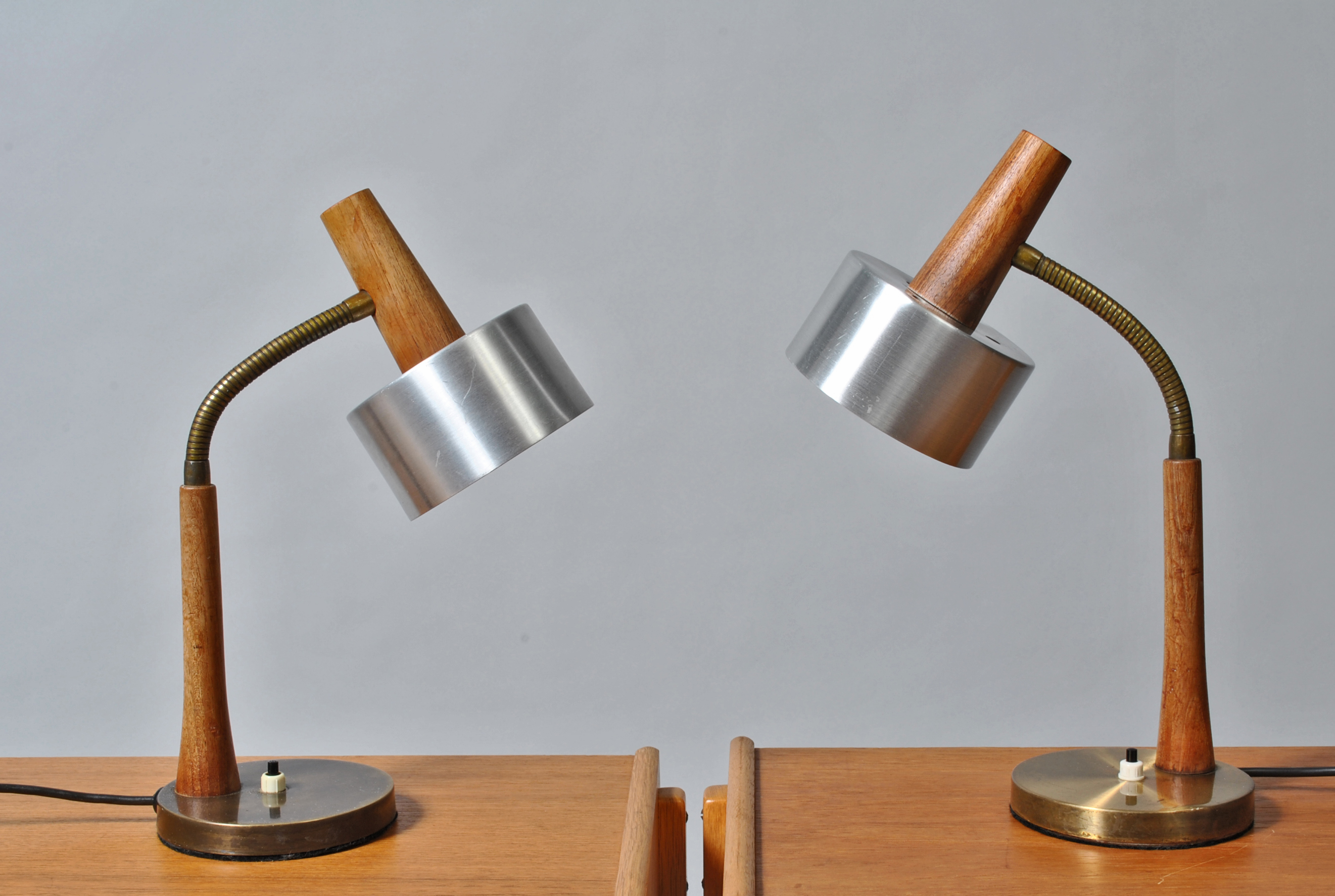Pair of Midcentury Danish table lamps in