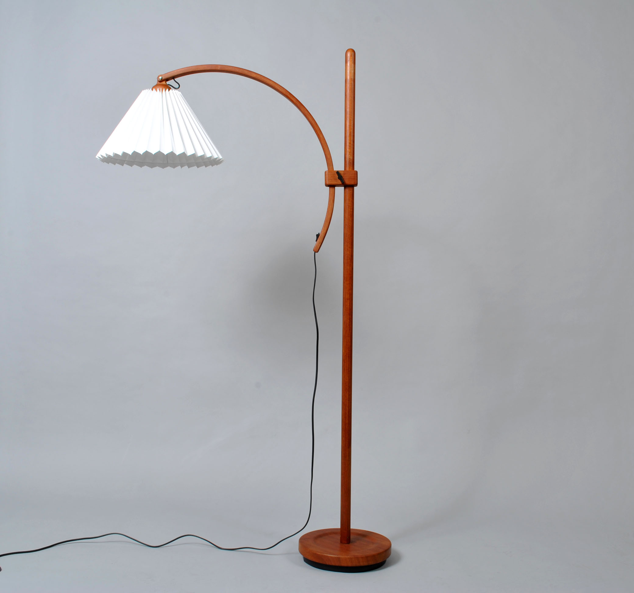 Midcentury Adjustable Teak Floor Lamp by