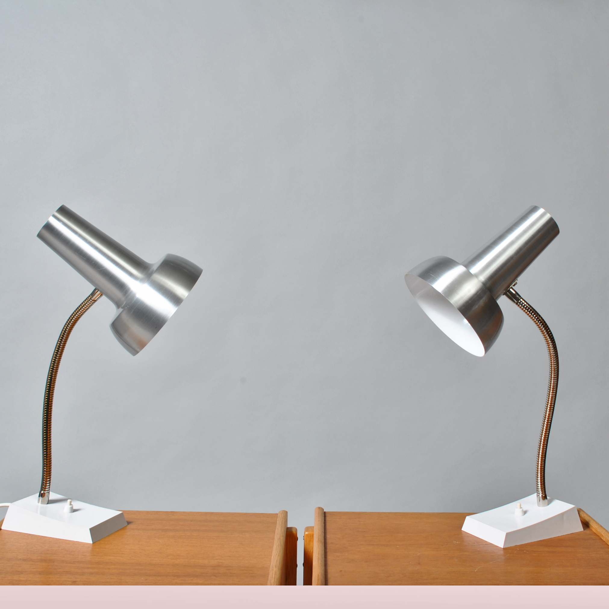 Pair of German SIS desk lamps