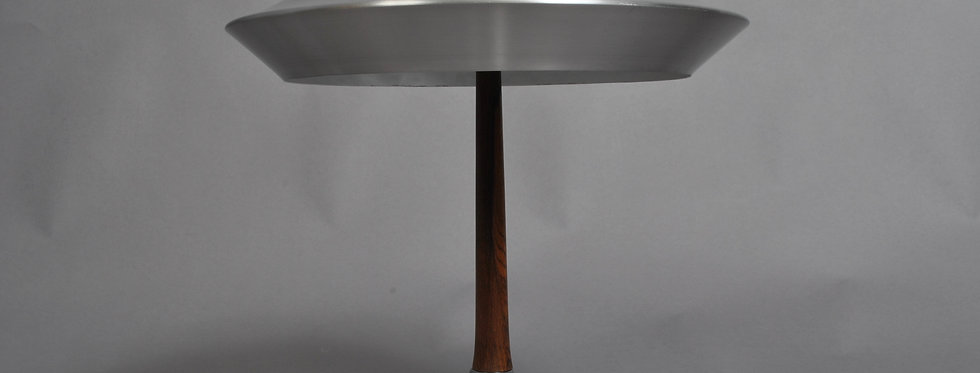 Svend Aage Holm Sørensen - Table Lamp in Rosewood and Aluminium 1960s