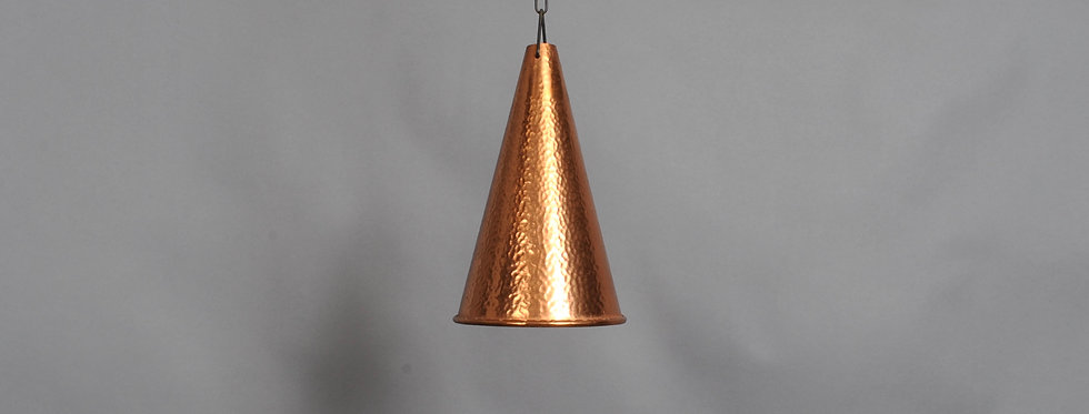Pair of E.S Horn Aalestrup Hand hammered Copper Pendant 1950s