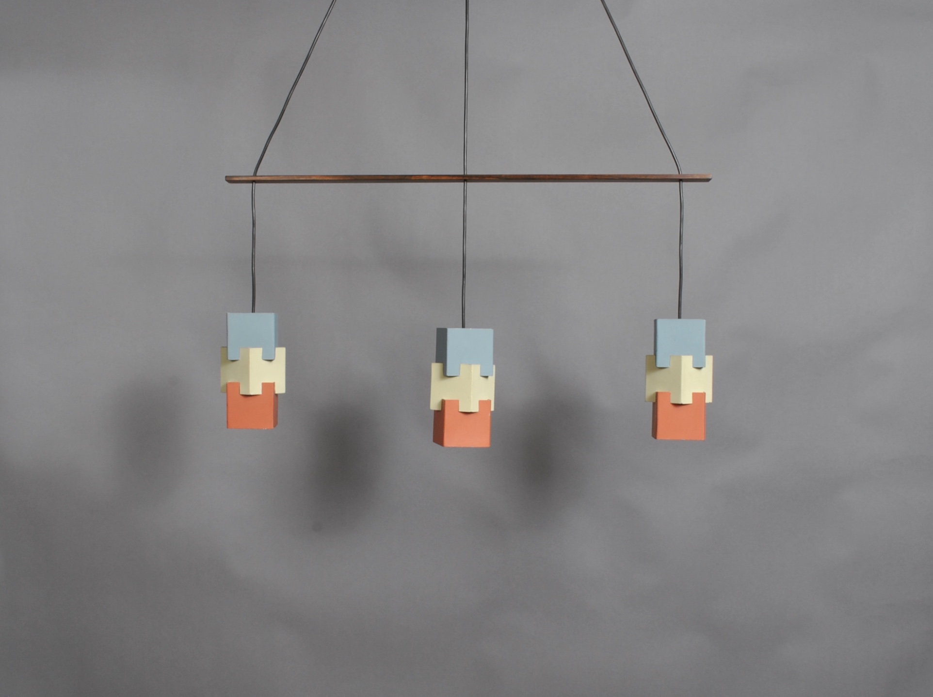 Danish Triple Pendant Light by Johannes