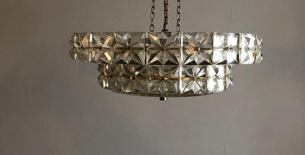 Mid-Century Cut Crystal Glass Chandelier from Kinkeldey