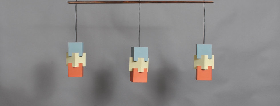 Danish Triple Pendant Light by Johannes Hammerborg for Fog & Mørup, 1960s