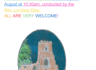 Another reminder about our first Holy Communion Service, since lockdown began