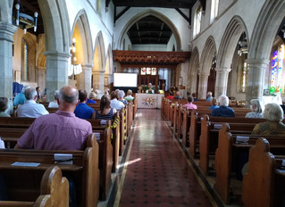 Home at last, our return for a Morning Service at St Mary's Church!