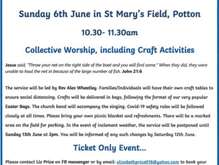 St Mary's Church will hold it's first Friends and Family Service for many months, next Sunday!