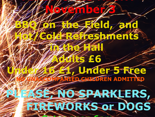 Our Annual Bonfire and Firework Evening