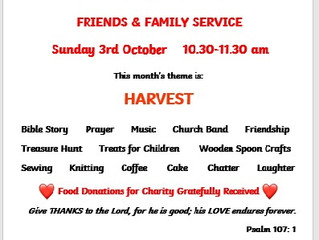 Friends and Family Services return to St Mary's in October