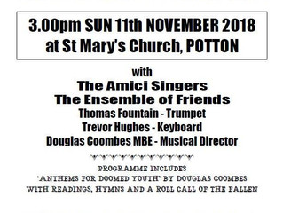 Concert to Commemorate the End of World War One