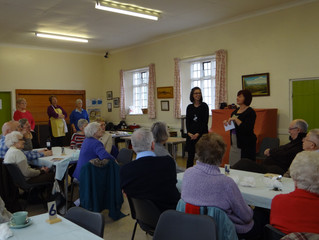 Parish Lunch presentation to St John's Hospice, Moggerhanger, and other events.