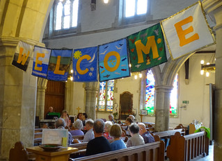 We have a New Service Plan, for the Benefice, starting on August 9th.