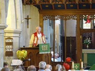 The Rev Gill's Farewell Service with Bishop Richard of Bedford
