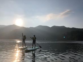 野尻湖でモーニングサップと朝食