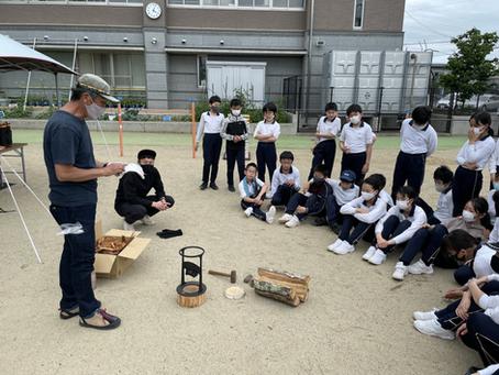 長野市内の小学校でプレキャンプ
