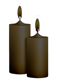 two-burning-candles-on-black-background-