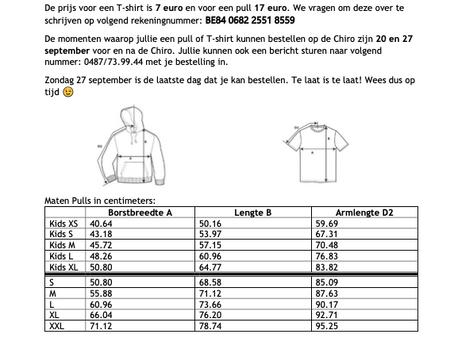 bestellen t-shirts/pulls
