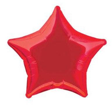 "Balloon Foil 20"" Star Red"