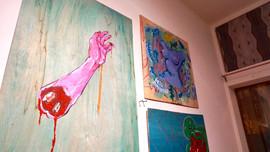 "Tattiana artwork at ""Who Run The World?"" Women's Month party"