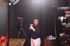 Madeline BTS at Big Hair Big City shoot