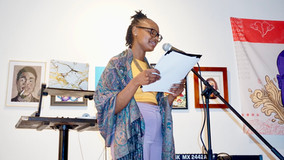 """Kyel Brooks at """"Who Run The World?"""" women's month party"""