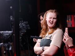 Katie BTS at Big Hair Big City shoot