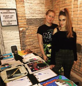 Katie & Julianne at Silent Art Auction
