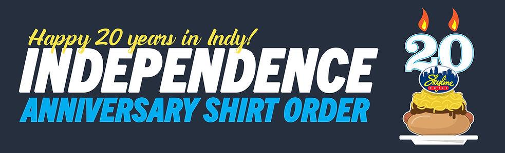 Independence Skyline Anniversary Shirt O