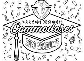 2020 Grad Cap - Tates Creek Commodores.j