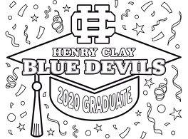 2020 Grad Cap - Henry Clay Blue Devils.j